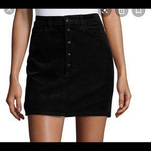 J Brand Corduroy Rosalie High Rise Button Skirt